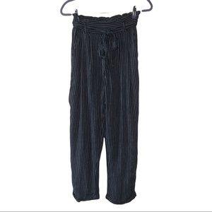 American Eagle Pinstripe high waist cropped pants